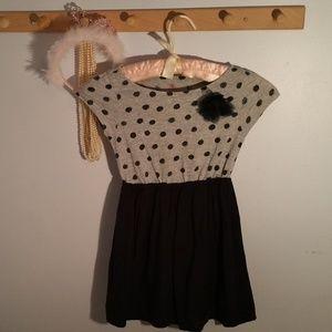 Childrens Place Size 5 Blue Polka Dot Cotton Dress